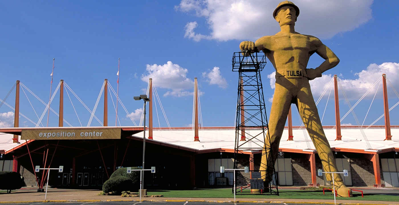 The Tulsa Fairgrounds River Spirit Expo Center is home to some the largest gun shows in the world.