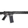 Advanced Combat AR-15 Black and Silver American Flag Cerakote