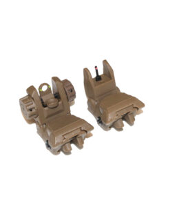Tiger Rock Inc Fiber Optic Flip-Up Sights Tan