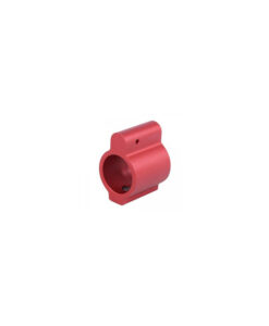 "Guntec USA AR-15 Low Profile Gas Block .750"" Red"
